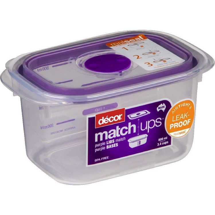 Decor Match-ups Oblong Storer 800 mL Purple