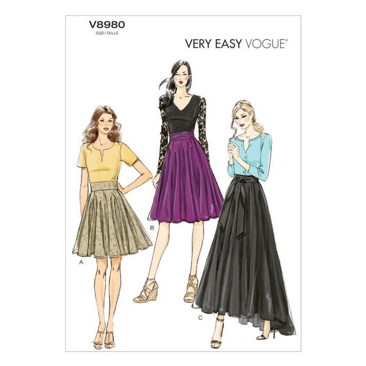 Vogue Pattern V8980 Misses' Skirt