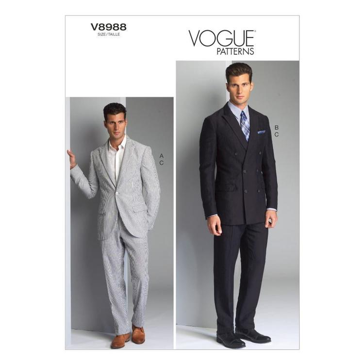 Vogue Pattern V8988 Men's Jacket & Pants
