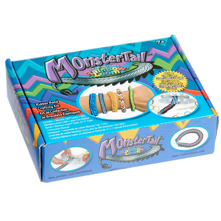Rainbow Loom Monster Tail Bracelet Kit Multicoloured