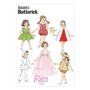"Butterick Pattern B6001 Clothes For 18"" (46Cm) Doll"