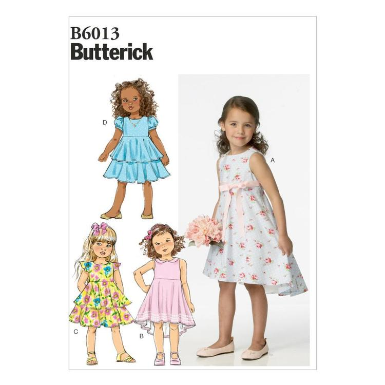 Butterick B6013 Girls' Dress