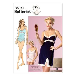 Butterick Pattern B6031 Misses' Camisole Slip & Panties