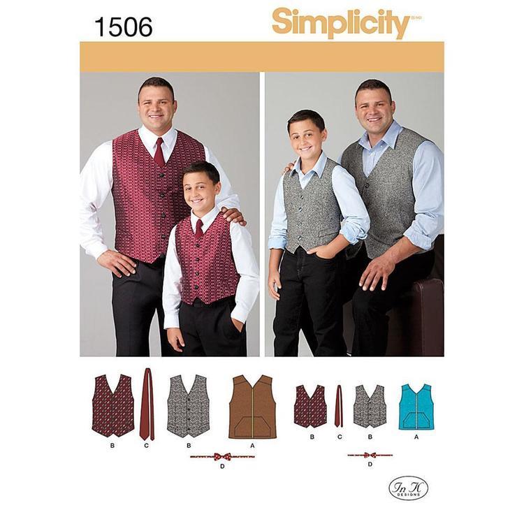 Simplicity Pattern 1506 Boy's Vest