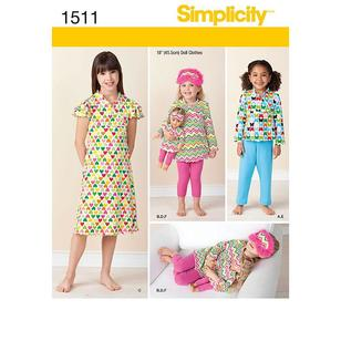 Simplicity Pattern 1511 Girl's Coordinates