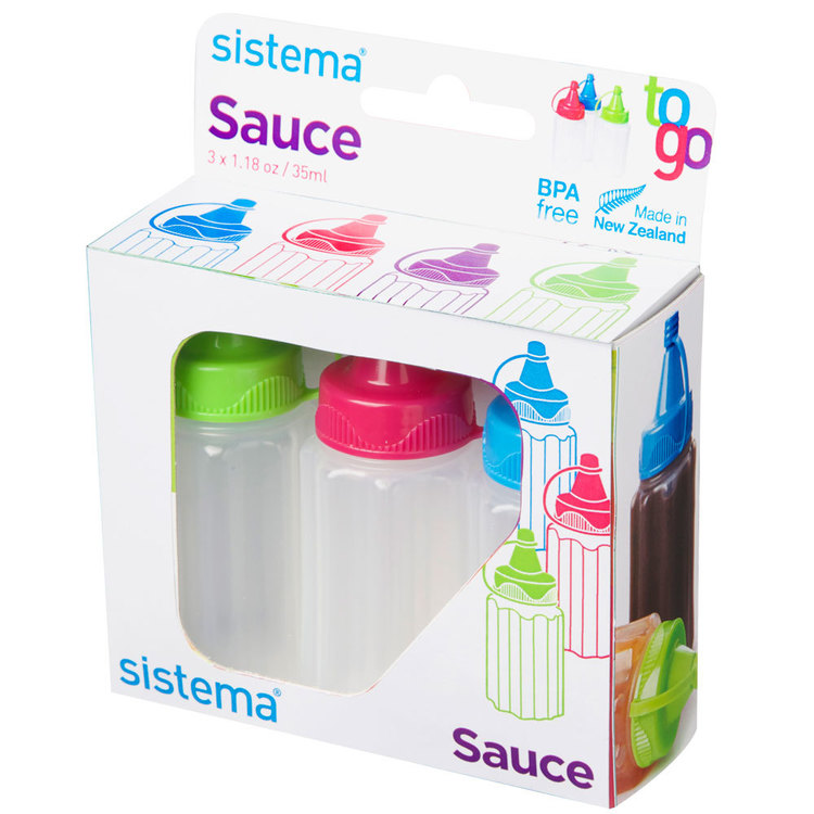 Sistema Sauce Pot To Go 3 Pack Multicoloured 35 mL