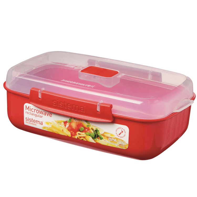 Sistema Microwave Rectangle Container 1.25 L Red 1.25 L