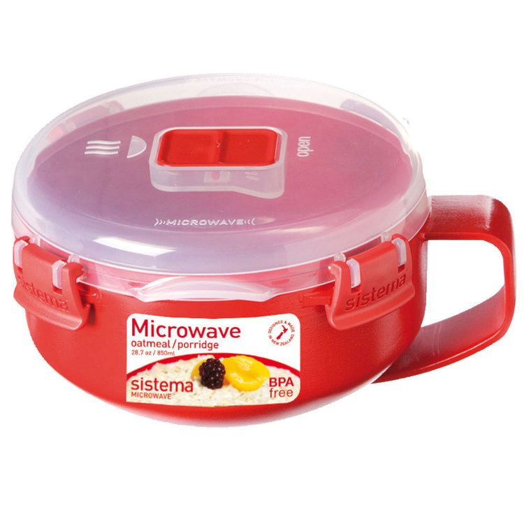 Sistema Microwave Oats With Handle 850 mL Red 850 mL