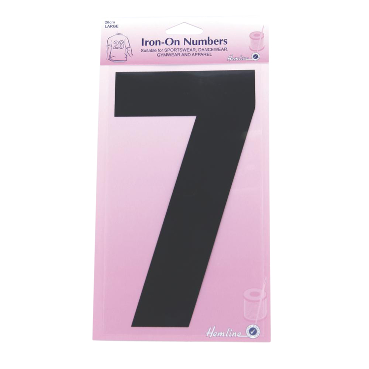 Hemline Large Iron On Number 7