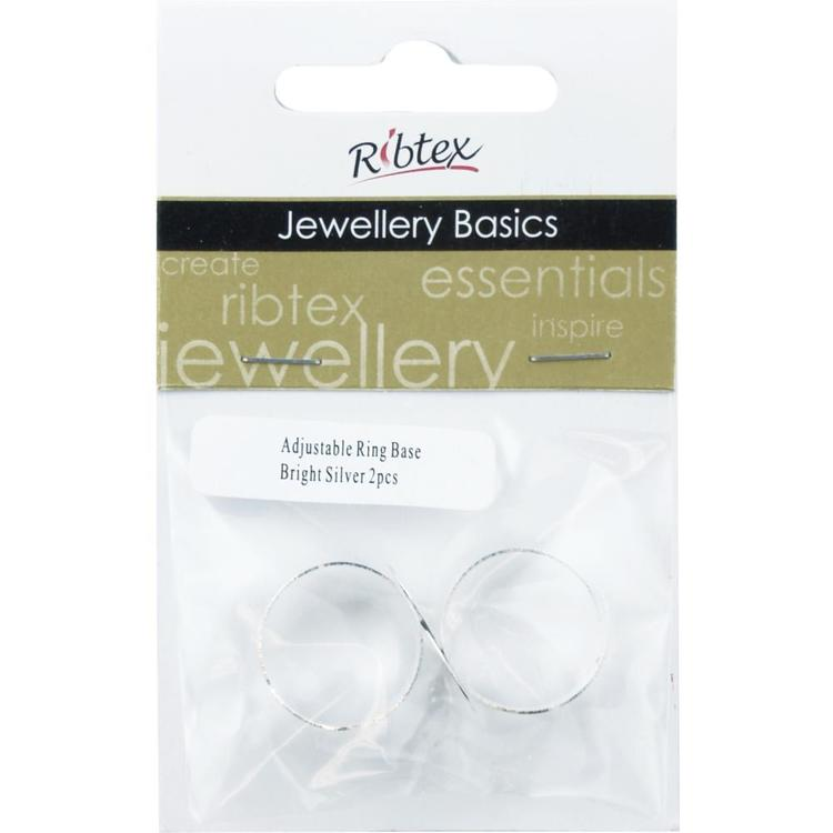 Ribtex Jewellery Basics Adjustable Flat Ring Base