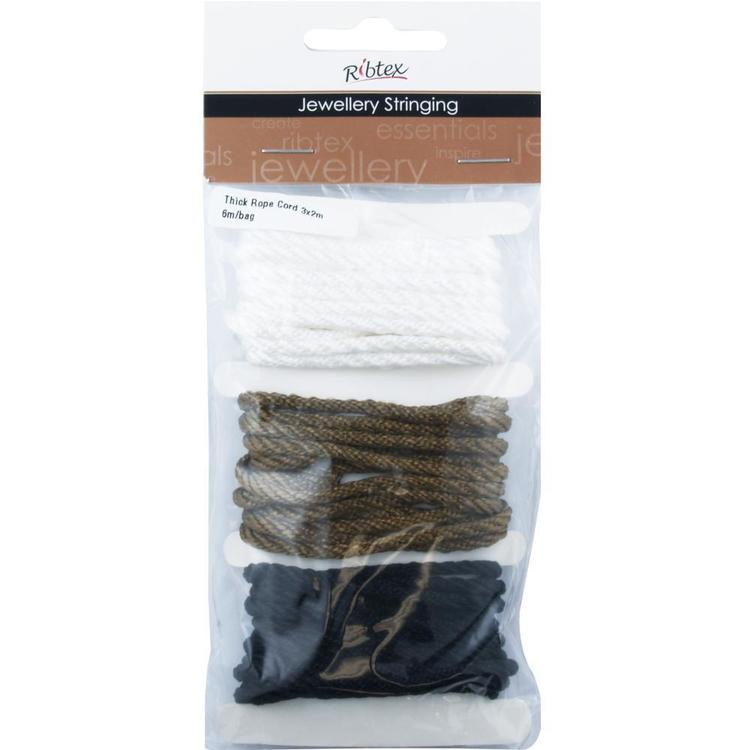 Ribtex Jewellery Stringing Thick Rope Cord