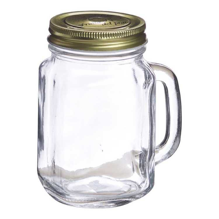 Mason Jar With Lid Clear 500 mL