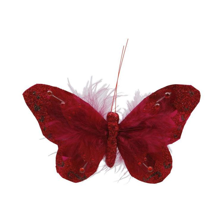 Critters Feather Butterfly On Clip