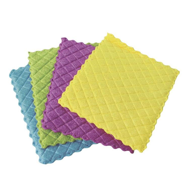 Sabco Kitchen Microfibre 4 Pack Multicoloured