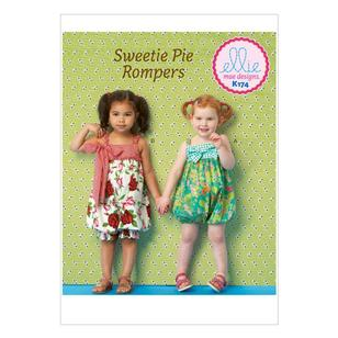 Kwik Sew Pattern K0174 Toddlers' Rompers