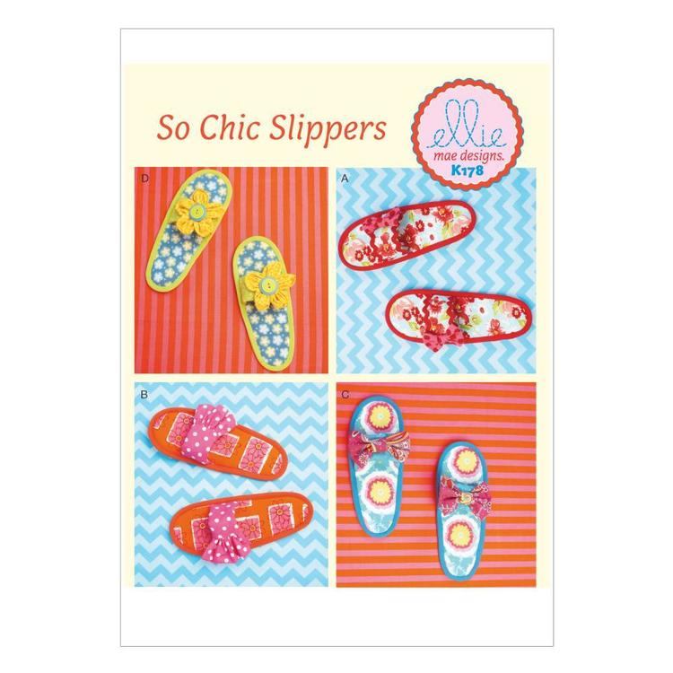 Kwik Sew K0178 Misses' Slippers One Size