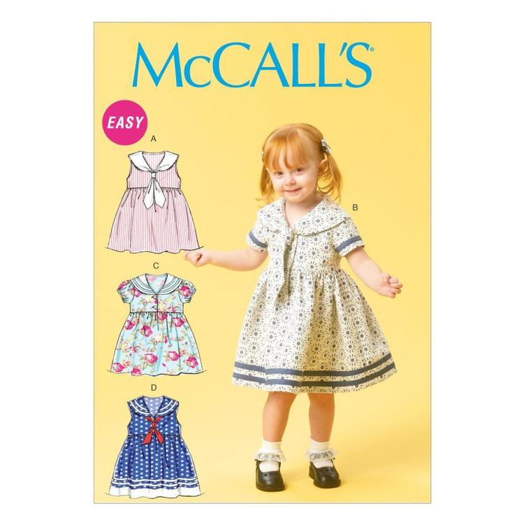 McCall's Pattern M6913 Toddlers' Dresses & Tie Ends