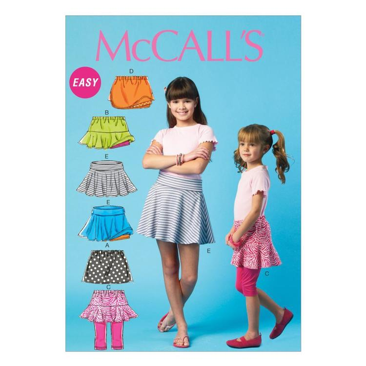 McCall's Pattern M6918 Girls' Skorts
