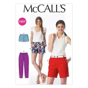 McCall's Pattern M6930 Misses' Shorts & Pants
