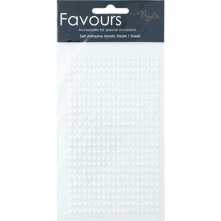Ribtex Favours 455 Adhesive Pearls White