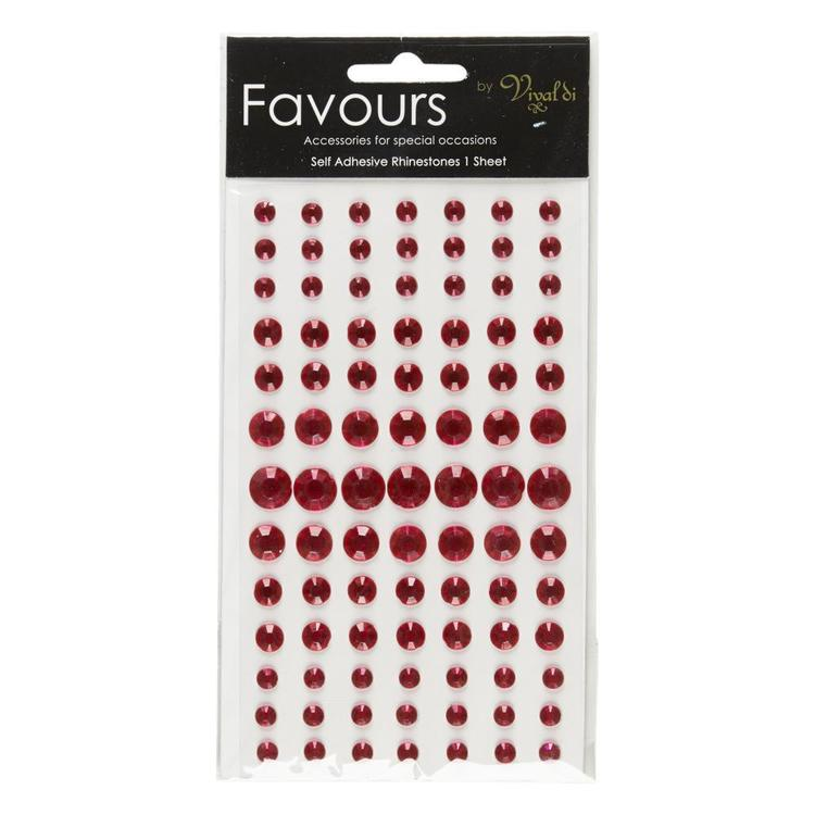 Ribtex Favours Adhesive Rhinestones 90 Pieces