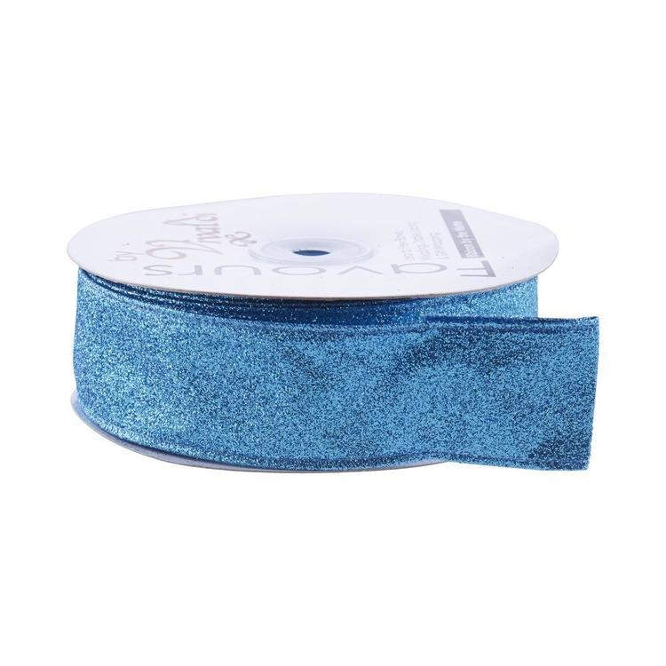 Favours 38 mm Wire Edge Satin Panel Ribbon By The Metre