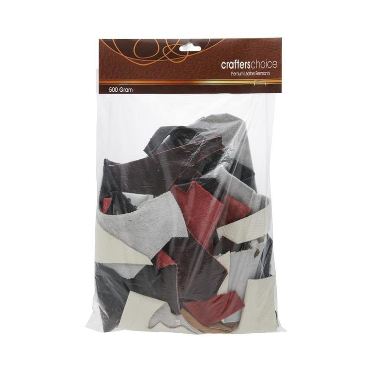 Crafters Choice Premium Leather Remnants Multicoloured