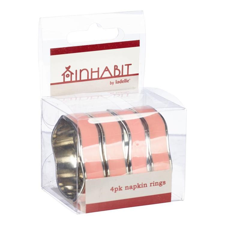 Ladelle Triangle 4 pack Napkin Rings