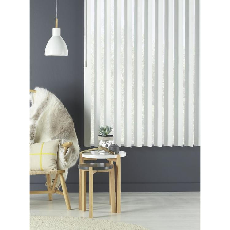 Caprice Platinum Vertical Blind White