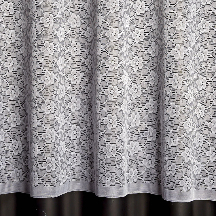 Caprice Sheer Petal Fabric 12 M Bolt White 213 cm
