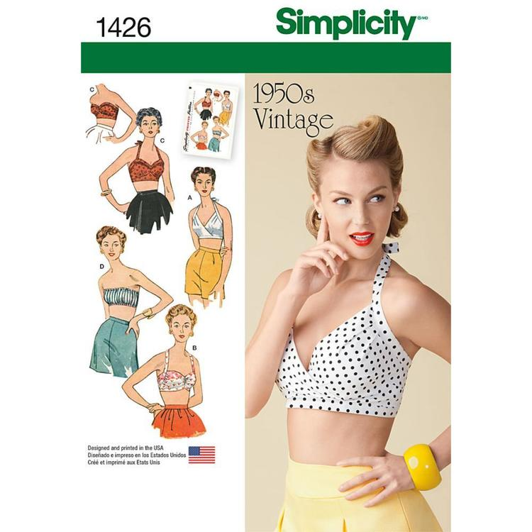 Simplicity Pattern Vintage 1426 Women's Top