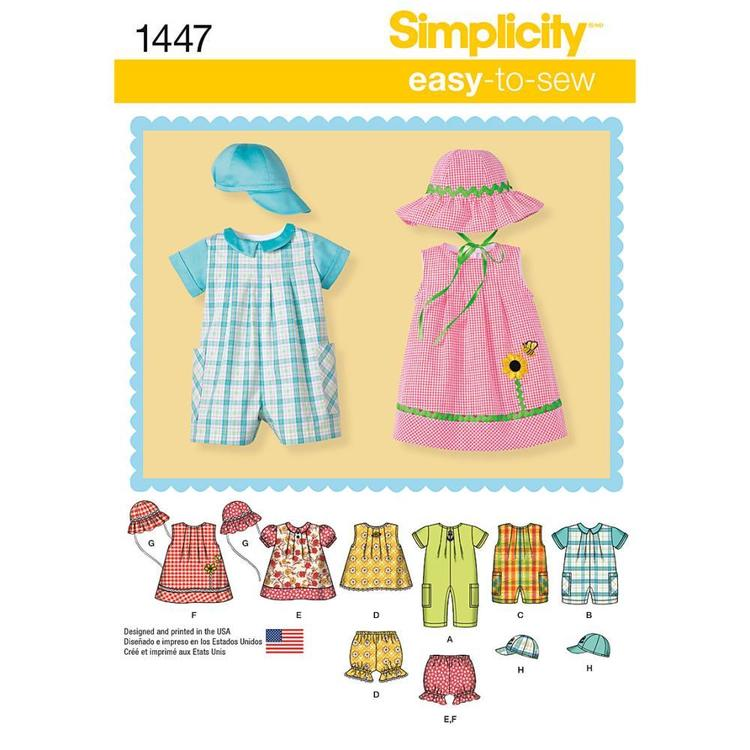 Simplicity Pattern 1447 Baby Coordinates