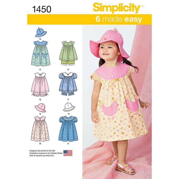 Simplicity Pattern 1450 Girl's Coordinates