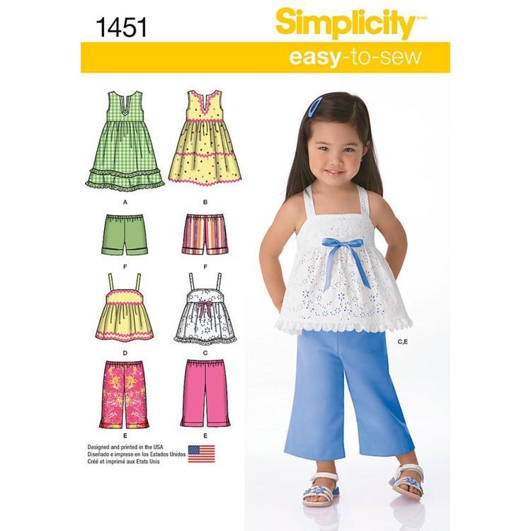 Simplicity Pattern 1451 Girl's Coordinates
