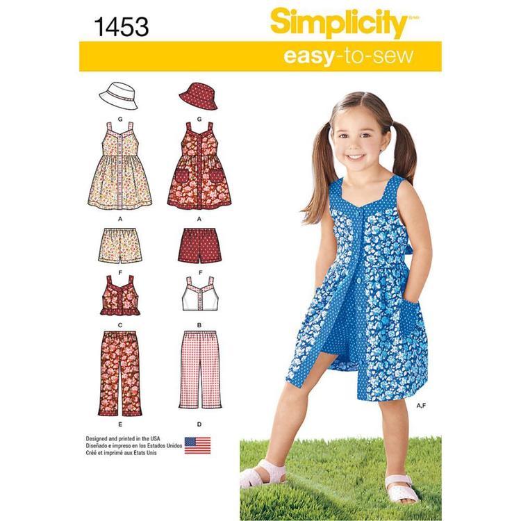 Simplicity Pattern 1453 Girl's Coordinates