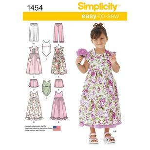 Simplicity Pattern 1454 Girl's Coordinates