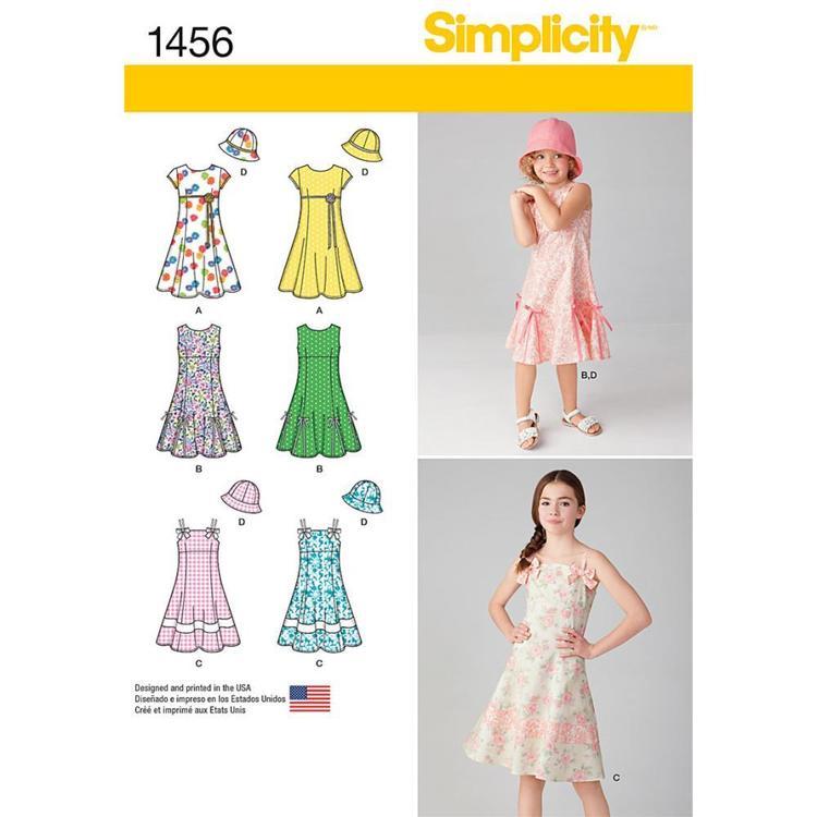 Simplicity Pattern 1456 Girl's Coordinates