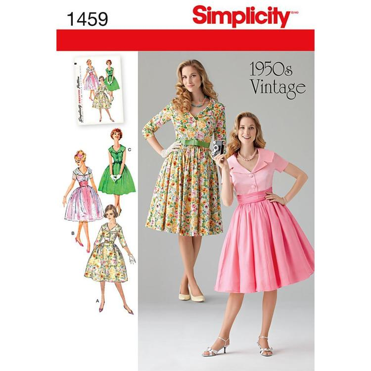 Simplicity Pattern Vintage 1459 Women's Dress