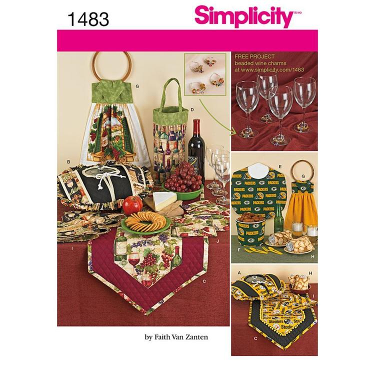 Simplicity Pattern 1483 Entertainment Accessories