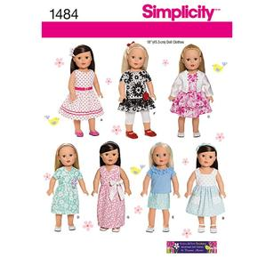 Simplicity Pattern 1484 Dolls Clothes