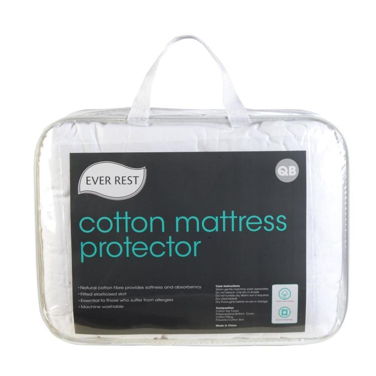 Ever Rest Cotton Mattress Protector White