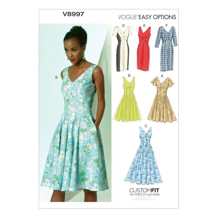Vogue Pattern V8997 Misses' Dress