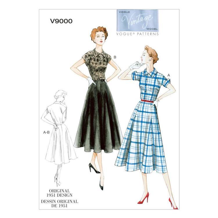 Vogue Pattern V9000 Misses' Dress & Belt
