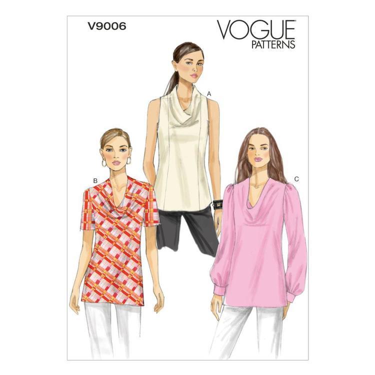 Vogue Pattern V9006 Misses' Top