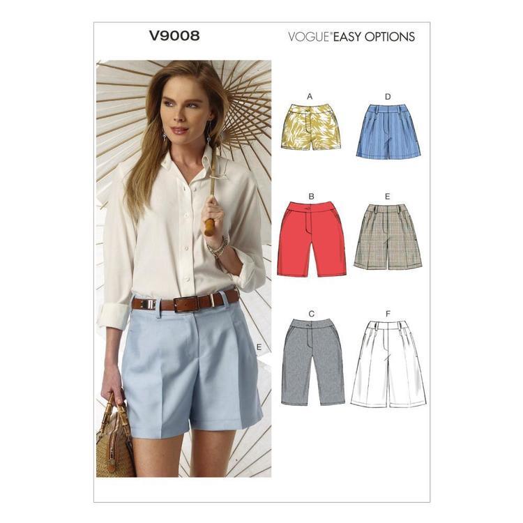 Vogue Pattern V9008 Misses' Shorts