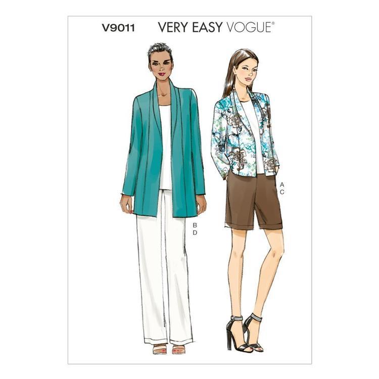 Vogue Pattern V9011 Misses' Jacket Shorts & Pants