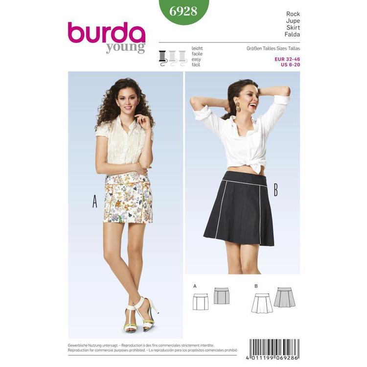 Burda Pattern 6928 Women's Skirt  6 - 20