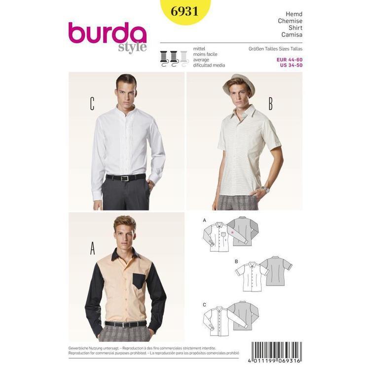 Burda Pattern 6931 Men's Top