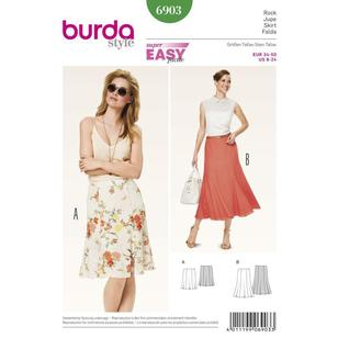 Burda Pattern 6903 Women's Skirt