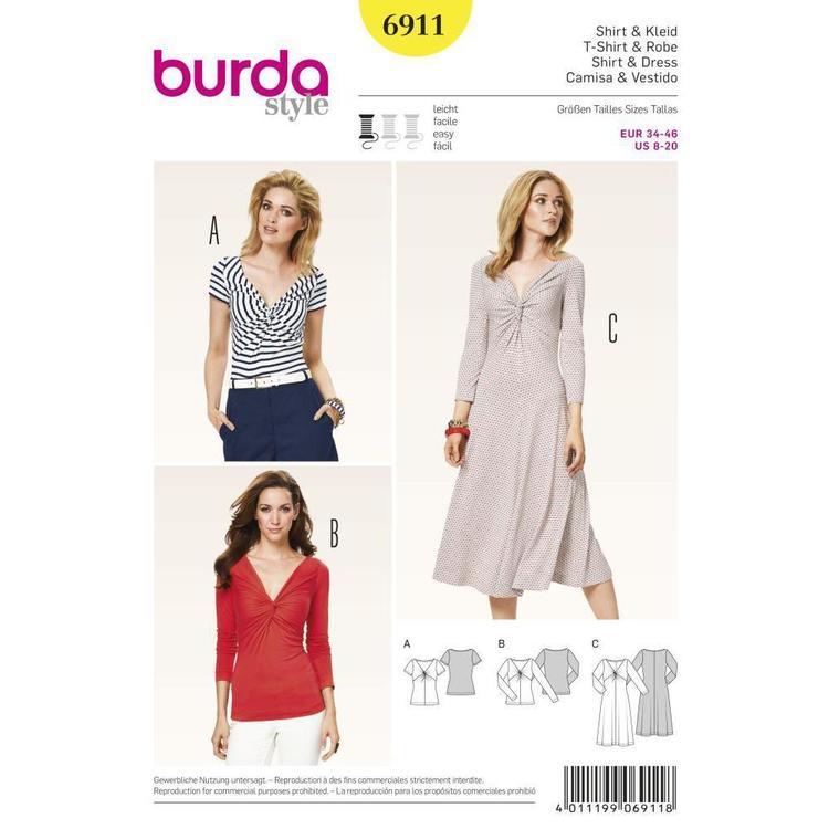 Burda Pattern 6911 Women's Dress